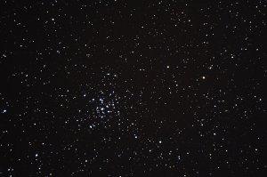 """Unterwegs im Sternbild Fuhrmann: Offener Sternhaufen M36, aufgenommen mit 6"""" f/5 Newton, Pentax K-500, 4 x 25 Sek., ISO 3200"""