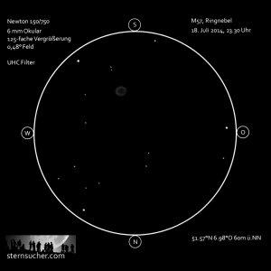 Der Ringnebel: Planetarischer Nebel als Rauchring