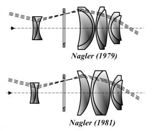 Das Nagler-Okular bietet ein großes Gesichtsfeld und eine nahezu perfekte Abbildung, von Tamasflex (Eigenes Werk) Lizenz: [url=http://creativecommons.org/licenses/by-sa/3.0/deed.de]CreativeCommons CC-BY-SA-3.0[/url]