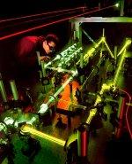 Experiment mit einem Laser