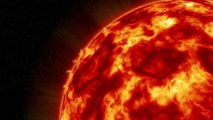 Der steigende Druck der Kernfusion dehnt den Stern aus (künstlerische Darstellung)